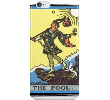 The Fool Tarot Card iPhone Case/Skin