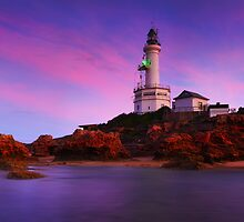 Morning Glow Point Lonsdale Ligthouse by Mark Shean