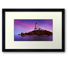 Morning Glow Point Lonsdale Ligthouse Framed Print