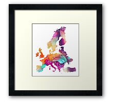 Europe Map colored Framed Print