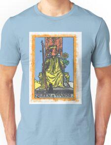Queen Of Wands Tarot Card Blue Unisex T-Shirt