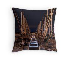 Marina Walkway Throw Pillow