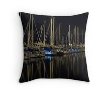 Sleeping Boats Throw Pillow