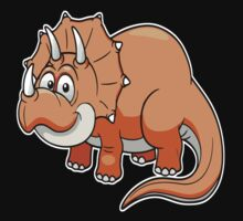 Dino Baby Triceratops  One Piece - Short Sleeve