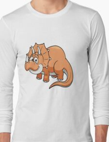 Dino Baby Triceratops  Long Sleeve T-Shirt