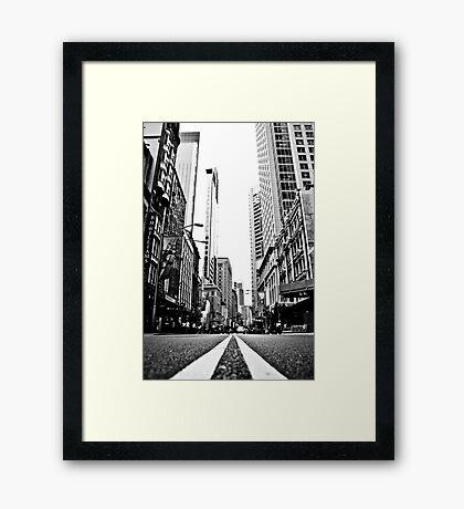 White Lines Framed Print