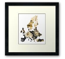 Europe Map brown Framed Print