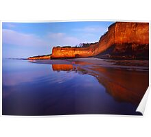 Anglesea Cliff Reflection Poster