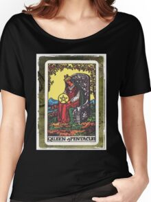 Queen Of Pentacles Tarot Card Fortune Teller Women's Relaxed Fit T-Shirt