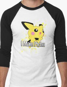 I Main Pichu - Super Smash Bros. Melee Men's Baseball ¾ T-Shirt