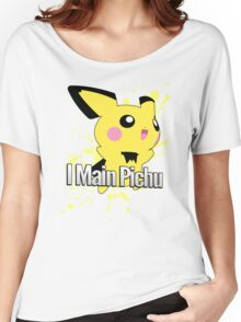 I Main Pichu - Super Smash Bros. Melee Women's Relaxed Fit T-Shirt