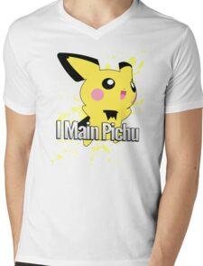 I Main Pichu - Super Smash Bros. Melee Mens V-Neck T-Shirt
