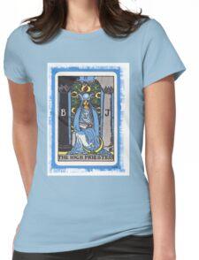High Priestess Blue Tarot Card Fortune Teller Womens Fitted T-Shirt