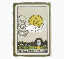 Ace Of Pentacles Tarot Card by designsbycclair