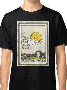 Ace Of Pentacles Tarot Card Classic T-Shirt