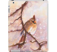 MAGICAL Female Winter Cardinal Copetón iPad Case/Skin
