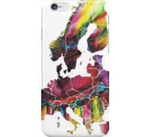 Europe Map eye iPhone Case/Skin