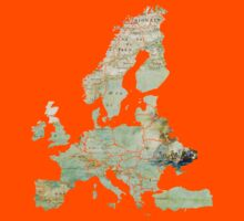 Map of the Europe Maps Kids Clothes