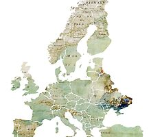 Map of the Europe Maps by JBJart