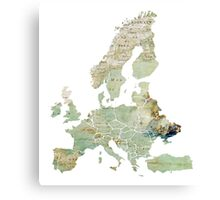Map of the Europe Maps Canvas Print