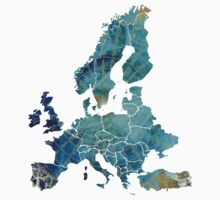 Europe Map wind Kids Clothes