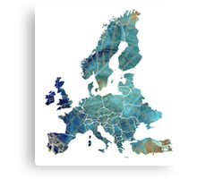 Europe Map wind Canvas Print