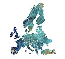 Europe Map wind Photographic Print