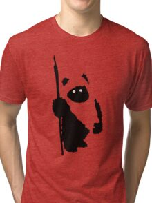 Ewok Silhouette Tri-blend T-Shirt