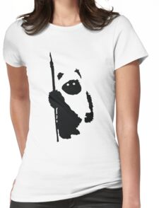 Ewok Silhouette Womens Fitted T-Shirt