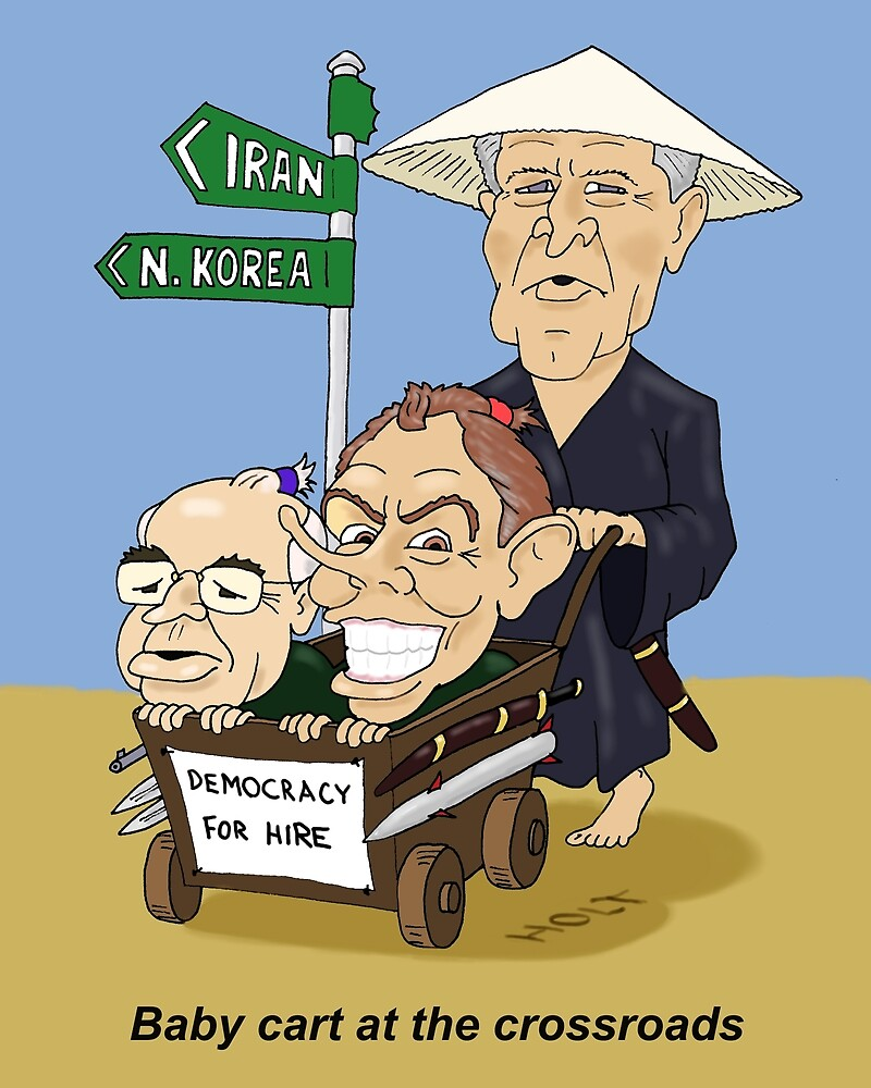 Babycart at the crossroads - Democracy by force by holty