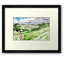 He wearied of the Chase ... Framed Print