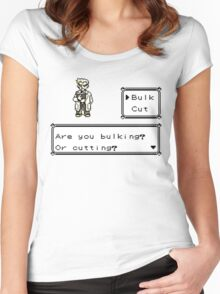 Professor Oak Pokemon. Are you bulking or cutting? Bulk edition Women's Fitted Scoop T-Shirt