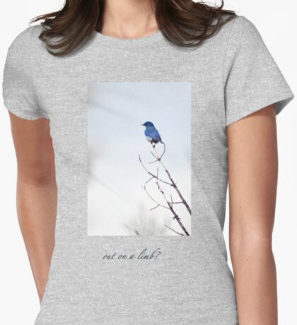 bluebird on a limb Womens Fitted T-Shirt