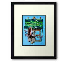 Frog In Studio Framed Print
