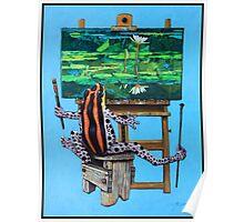 Frog In Studio Poster