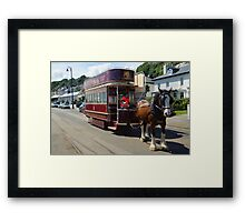 Only Double Decker Horse Tram  Framed Print