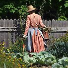 The woman in the garden - Canada by chrisfx