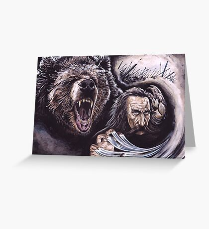 Beorn In Battle Greeting Card