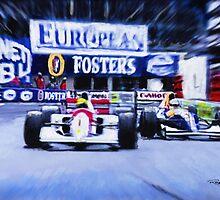 Nigel Mansell v Ayrton Senna  by Lightrace