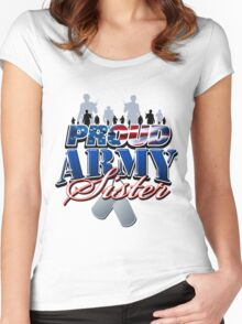 Proud Army Sister Women's Fitted Scoop T-Shirt