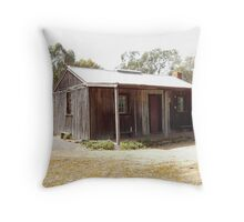 EARLY SETTLERS COTTAGE Throw Pillow