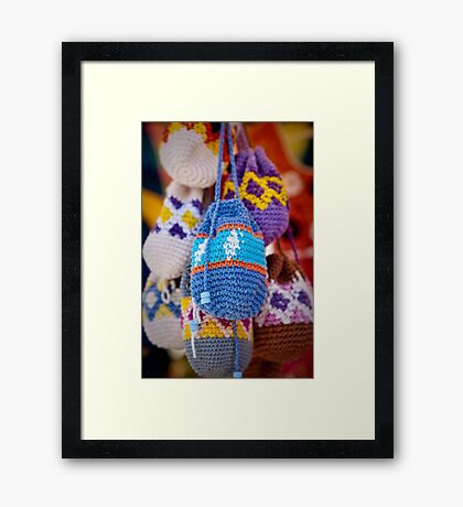 Knitted Pouches Framed Print