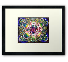 Blooming Orbs of Light: Inner Power Painting Framed Print