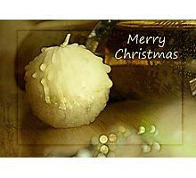 Candle Christmas Card Photographic Print