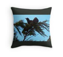 Sunbathing Birds Throw Pillow
