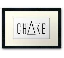 Triangle Choke Framed Print