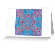 Iridium Atoms Blue Orange Greeting Card