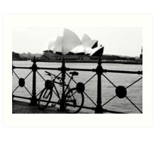 The Cycle and  Sydney Opera House Art Print