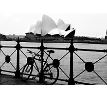 The Cycle and  Sydney Opera House Photographic Print