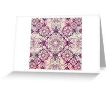 Iridium Atoms Purple White Greeting Card
